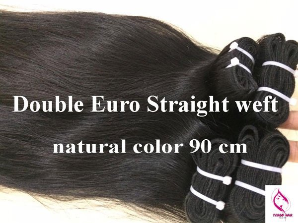 Double-Euro-Straight-weft-natural-color-90-cm